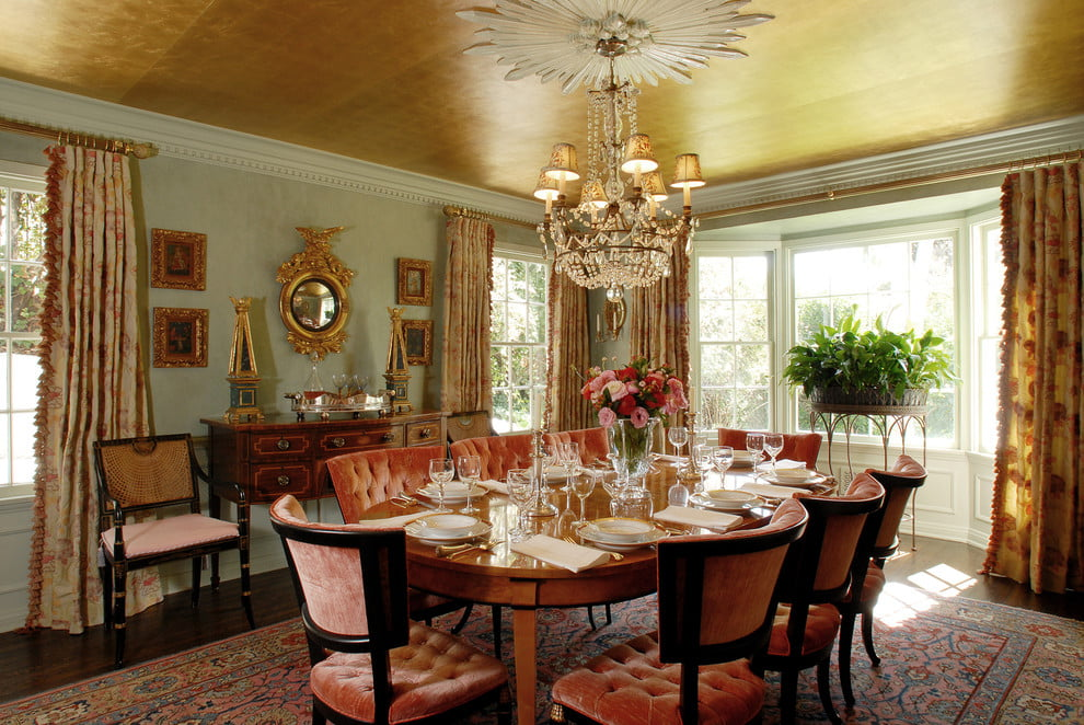 Дизайн штор в столовой комнате фото интерьер и идеи