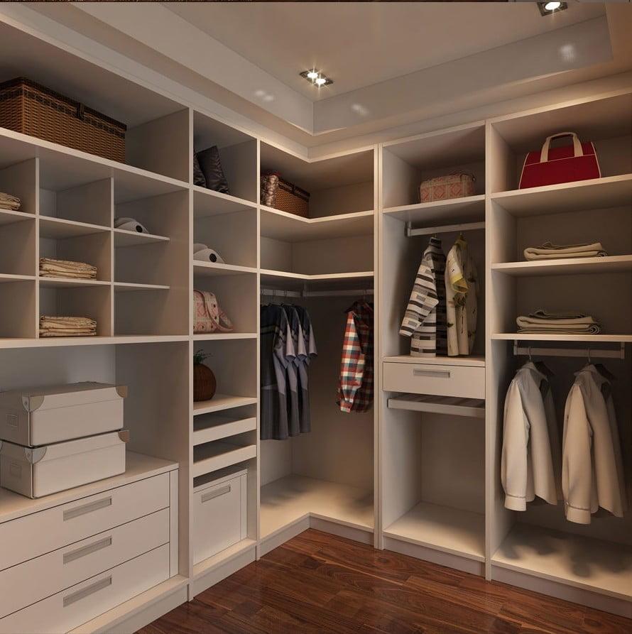 Дизайн угловой гардеробной комнаты: фото и идеи wergin.ru.