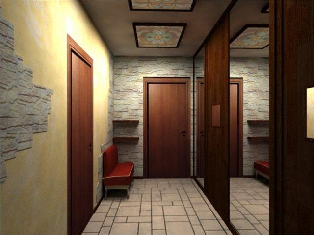 Ремонт маленького коридора своими руками фото