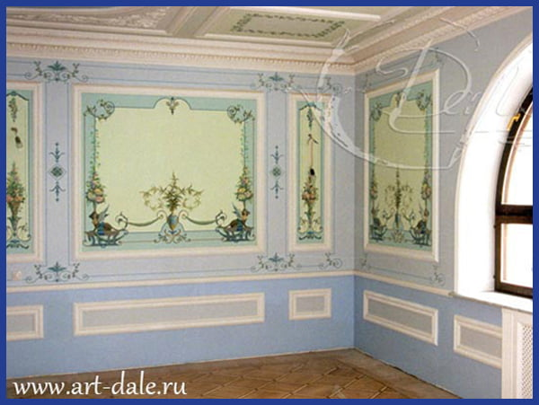 Декор стен потолка