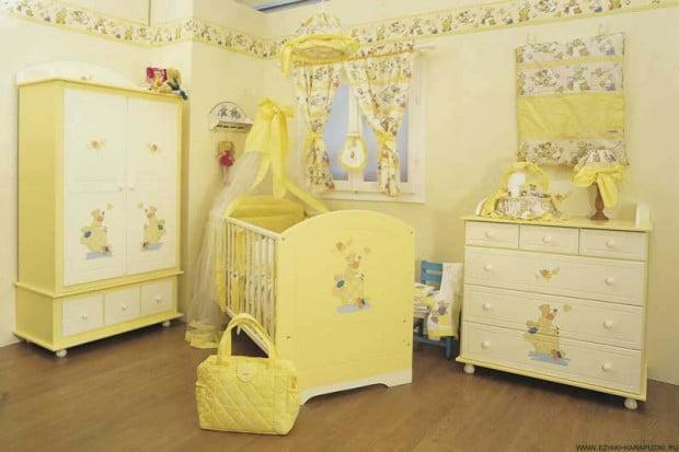 бледно лимонный цвет в детской