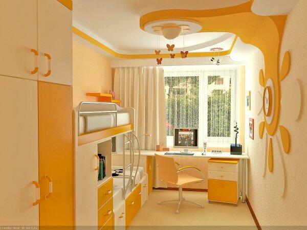Дизайн детская комната 10 кв м