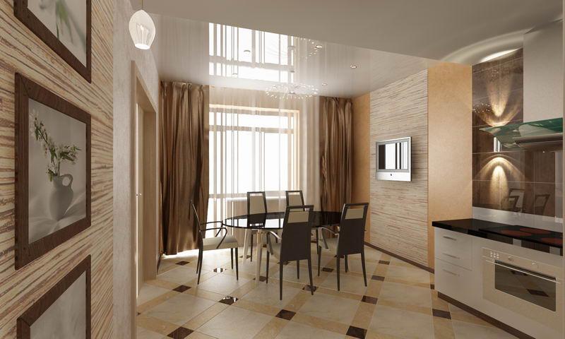Дизайн зал столовая