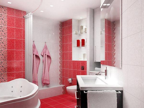 Ванные комнаты красно белые ванной комнаты в омске