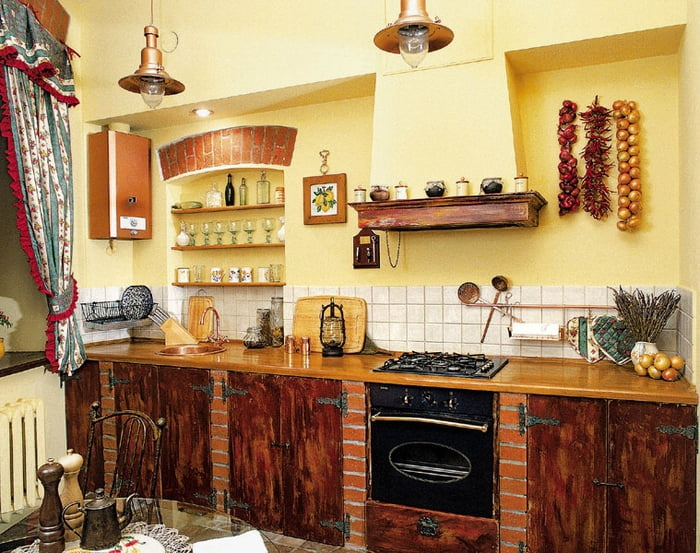 наборная деревенская кухня