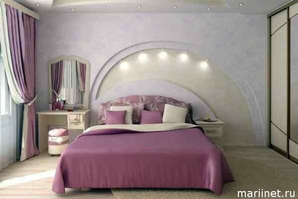 Спальня дизайн квадратная