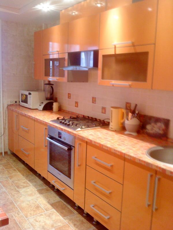 Кухня в персиковых тонах дизайн фото