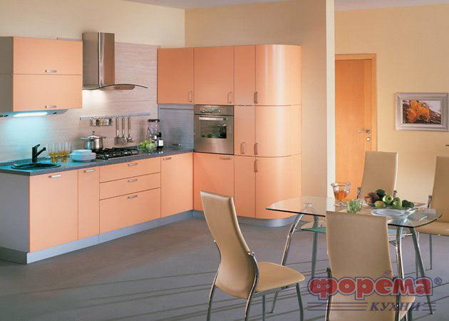 Дизайн персиковой кухни фото