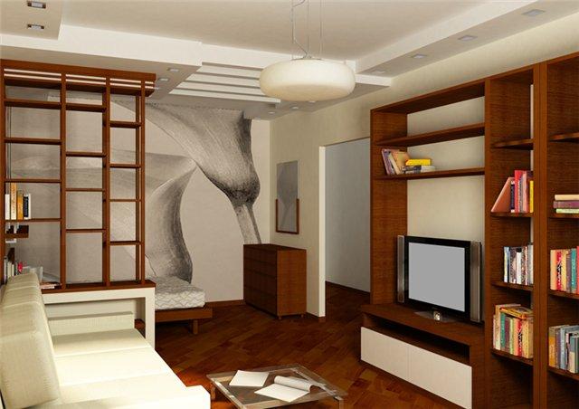 дизайн интерьера гостиной спальни фото