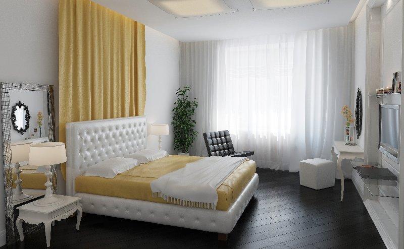Дизайн спальни в темных цветах фото