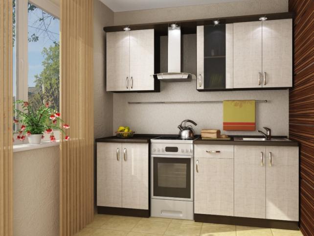 очень маленькая белая кухня