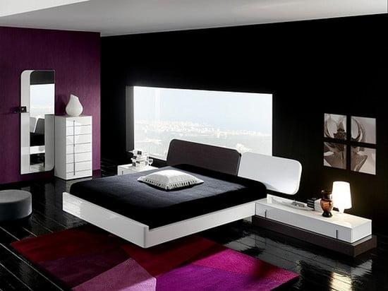 Черно белый дизайн комнаты фото