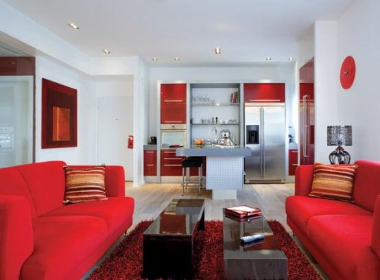 мягкая мебель красная