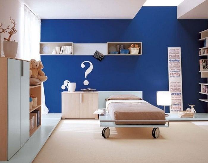 Синяя комната дизайн фото