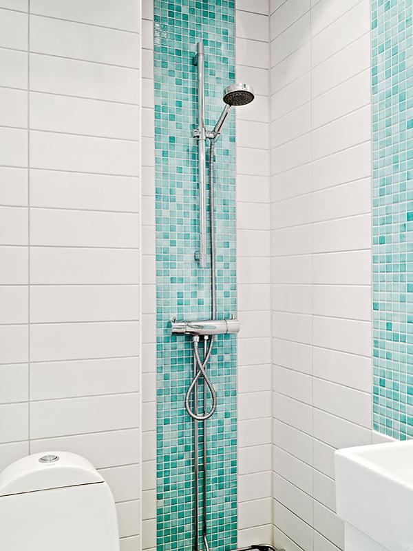 Blue Bathroom Mosaic Glass Containers: Бирюзовая ванная комната, дизайн интерьера