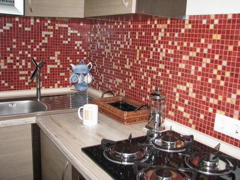 Мозаика на кухне фартук своими руками