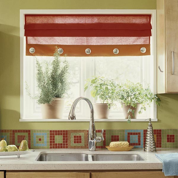 Окно на кухне дизайн фото