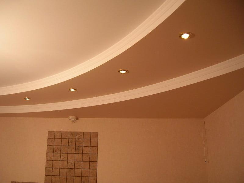 Потолки из гипсокартона для комнаты своими руками фото 129
