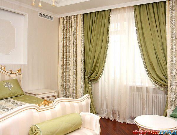 Дизайн занавески в спальню фото