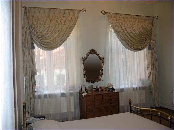 Занавески на два окна фото
