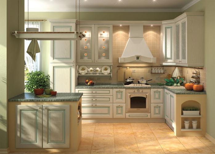 Интерьер кухни классическом стиле