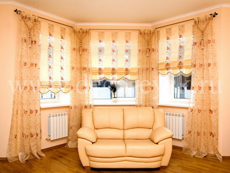 Эркерные шторы 35 фото дизайнерских идей ремонт и стройка - .
