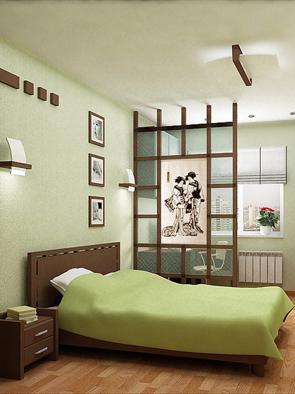 Интерьер спальня кабинет