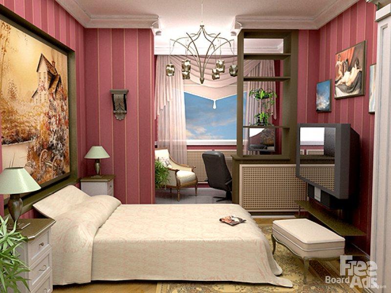 Спальня с рабочим местом фото