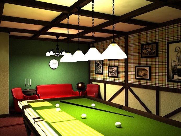 Фото бильярдной комнаты в доме