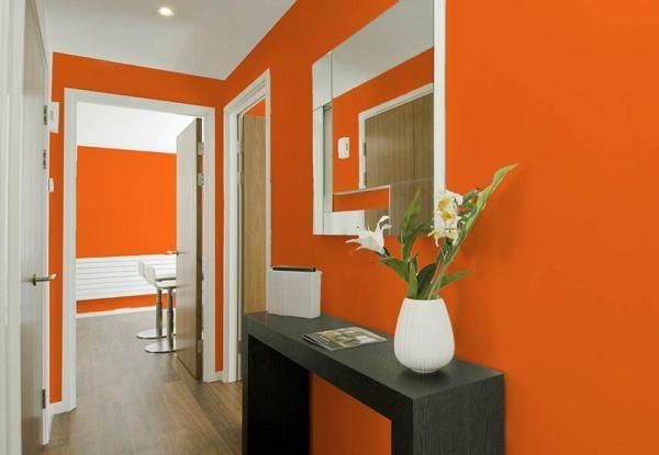 Оранжевая прихожая фото