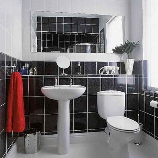 Ванная комната в черно-белом дизайне