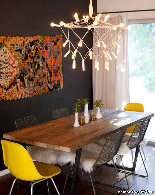 Натуральные и синтетические ковровые изделия в современном интерьере