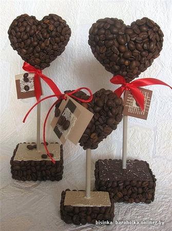 кофейные сердечки