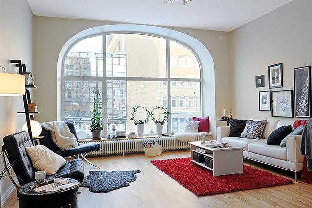 Окна в гостиной фото