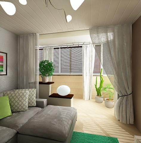 Идеи гостиной на балконе фото