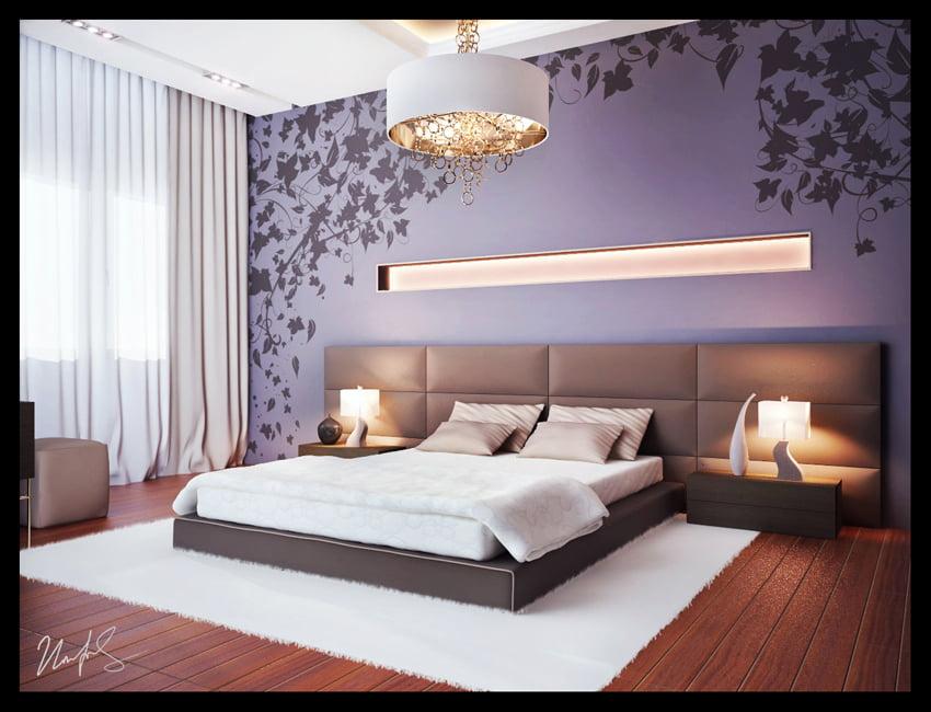 Интерьер спальни модерн фото