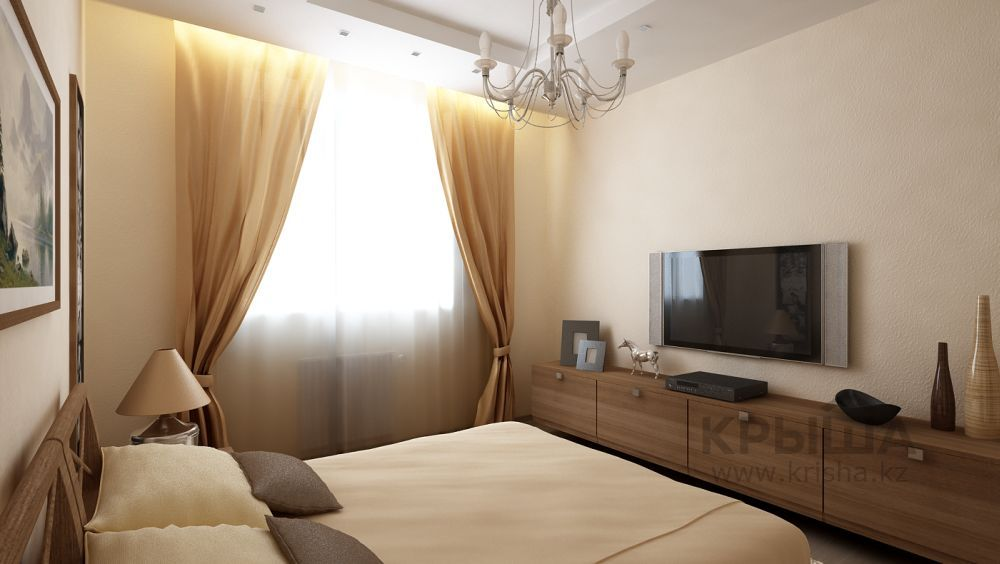 Дизайн спальни в хрущевке с балконом.