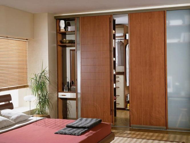 Дизайн спальни с гардеробной, оформление, фото и видео ... Дизайн Спальни С Угловой Гардеробной