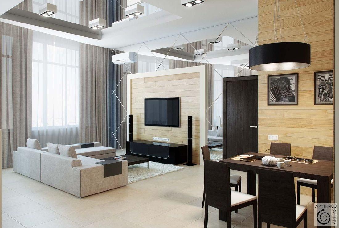 Дизайн гостиных в стиле минимализм