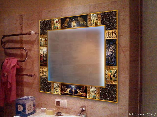 Рамка на зеркало своими руками фото