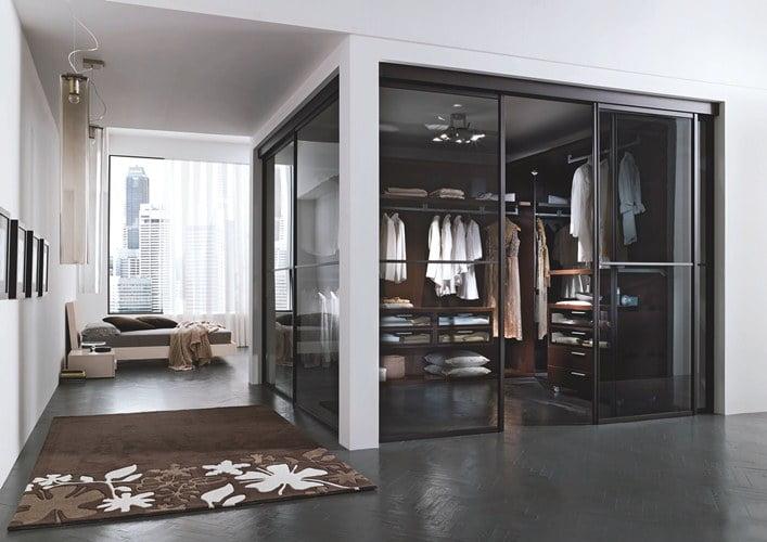 фото гостиная с гардеробной