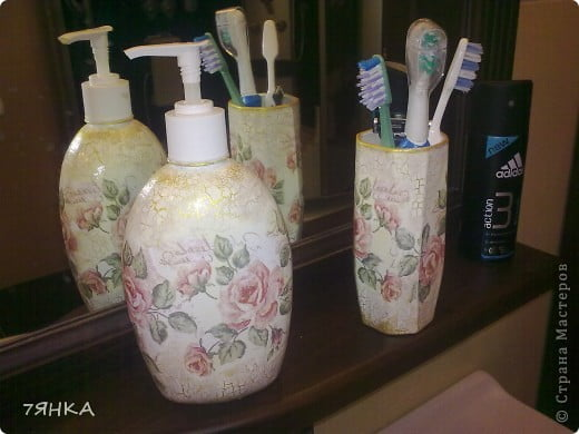 Аксессуары в ванной комнаты своими руками