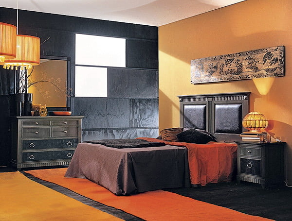 Дизайн оранжевая комната