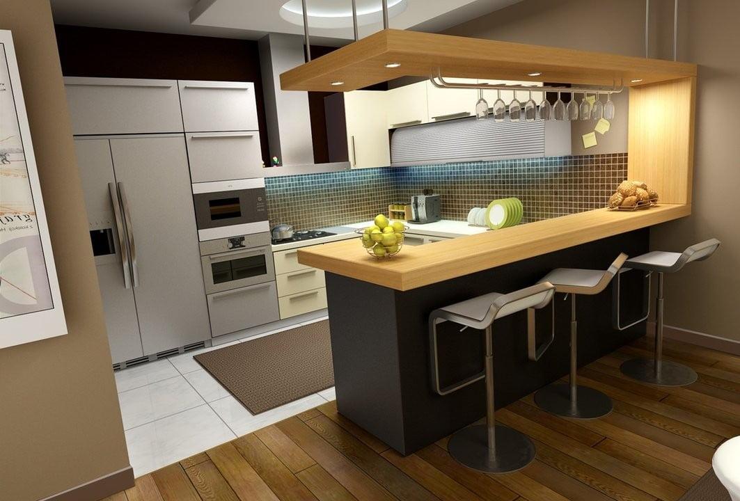Кухня-бар дизайн